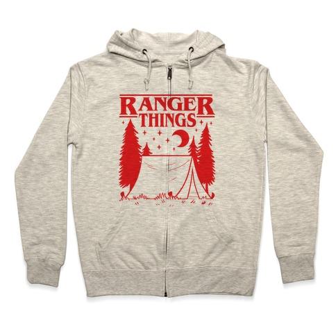 Ranger Things Zip Hoodie