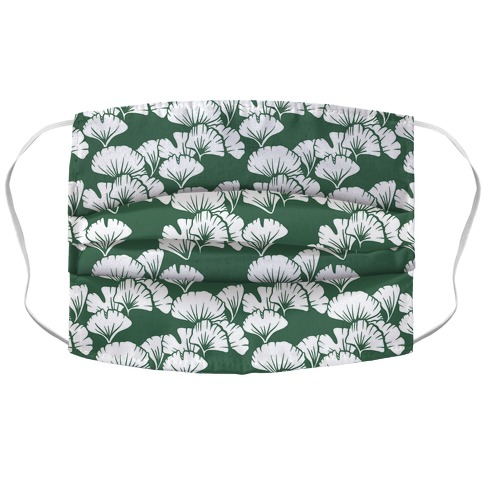 Ginkgo Leaf Green Pattern Accordion Face Mask