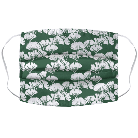 Ginkgo Leaf Green Pattern Face Mask Cover