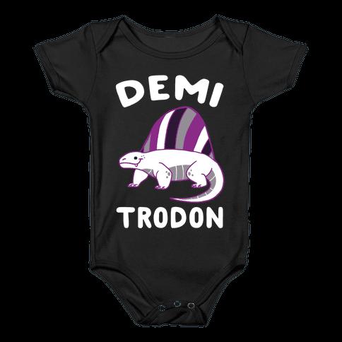 Demi-trodon - Dimetrodon  Baby Onesy