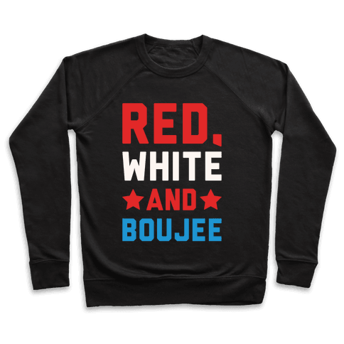 Red White And Boujee White Print Pullover