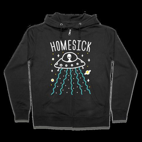 Homesick Alien Zip Hoodie