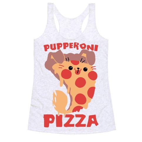 PUPPERoni Pizza Racerback Tank Top