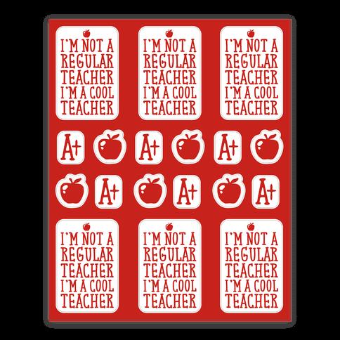 Cool Teacher Sticker and Decal Sheet