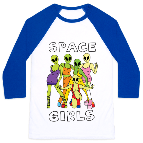 Space Girls Baseball Tee