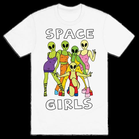 Space Girls Mens T-Shirt