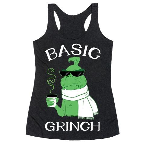 Basic Grinch Racerback Tank Top