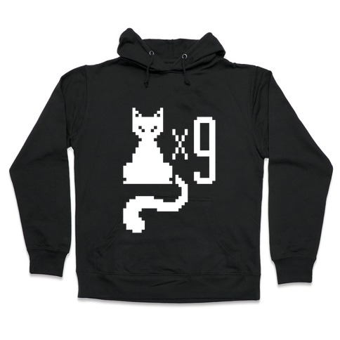 Retro Cat 9 lives Hooded Sweatshirt