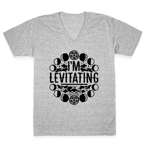 I'm Levitating Parody V-Neck Tee Shirt