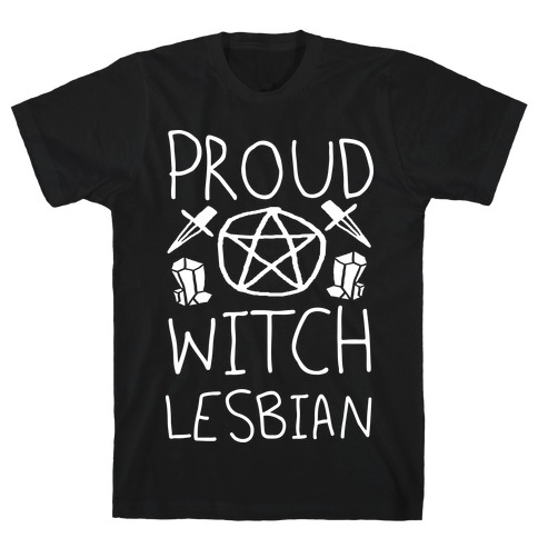 Proud Witch Lesbian Mens T-Shirt