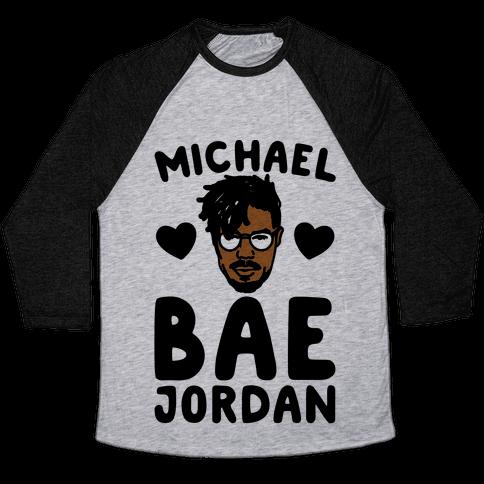 Michael Bae Jordan Parody Baseball Tee