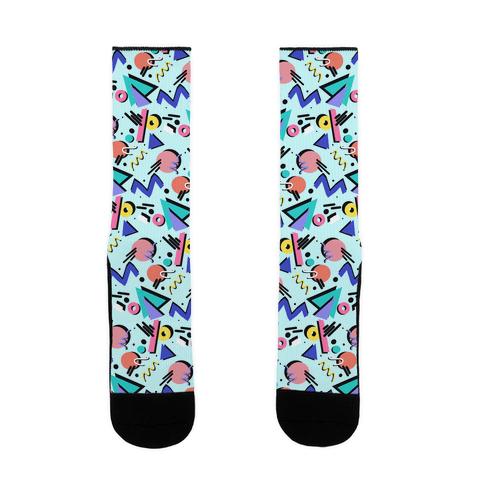 90's Nostalgia Pattern Sock