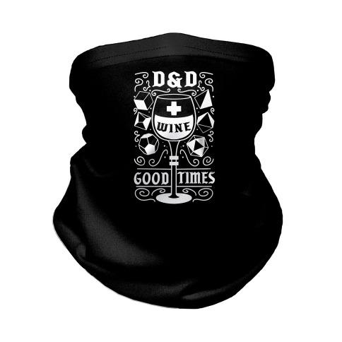 D&D + Wine = Good Times Neck Gaiter