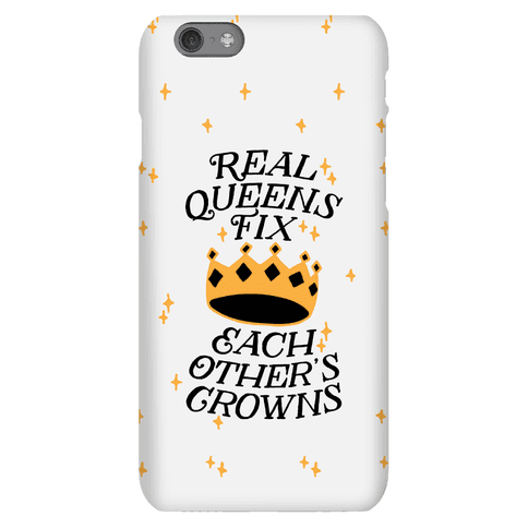 Real Queens Fix Each Other's Crowns Phone Case