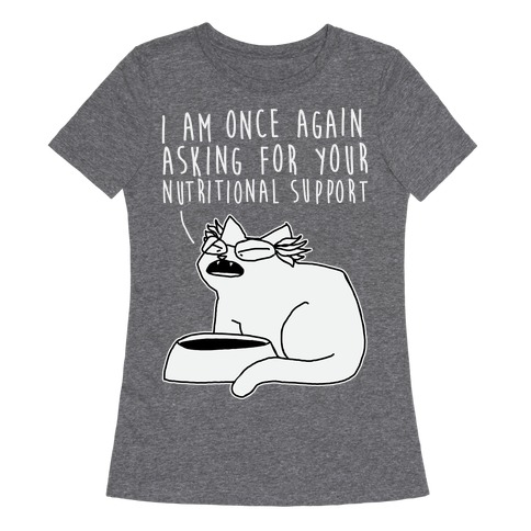 I Am Once Again Asking For Your Nutritional Support Womens T-Shirt