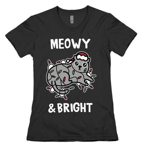 Meowy & Bright Womens T-Shirt