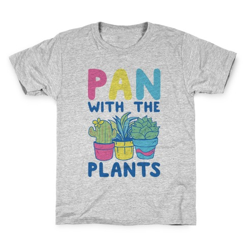 Pan with the Plants Kids T-Shirt