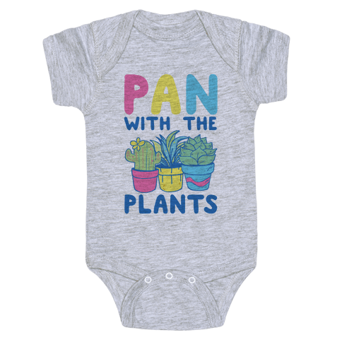 Pan with the Plants Baby Onesy