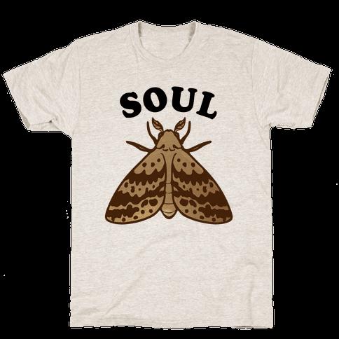 Moth & Lamp Soul Mates (1 of 2) Mens T-Shirt
