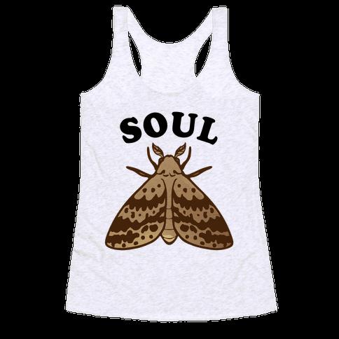 Moth & Lamp Soul Mates (1 of 2) Racerback Tank Top