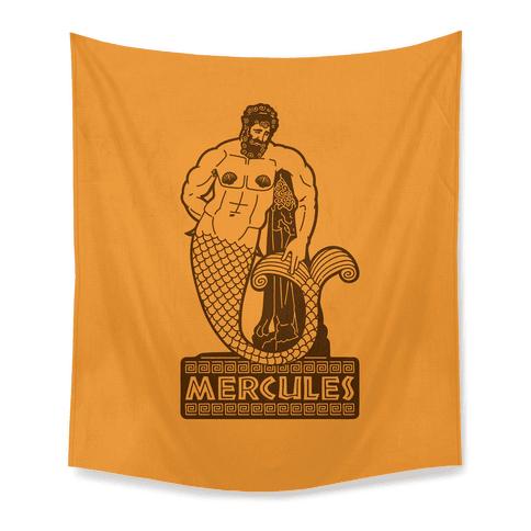 Mercules Merman Hercules Parody Tapestry