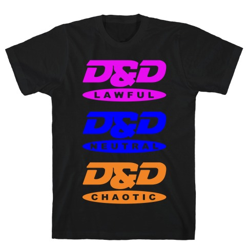 Dungeons and Dragons DVD Logo Parody White Print T-Shirt