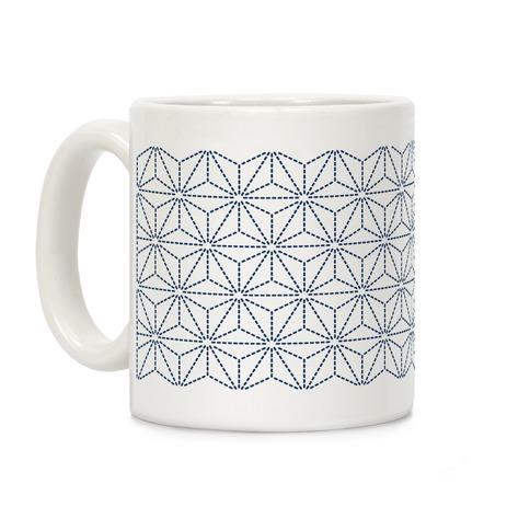 Sashiko Asanoha Coffee Mug
