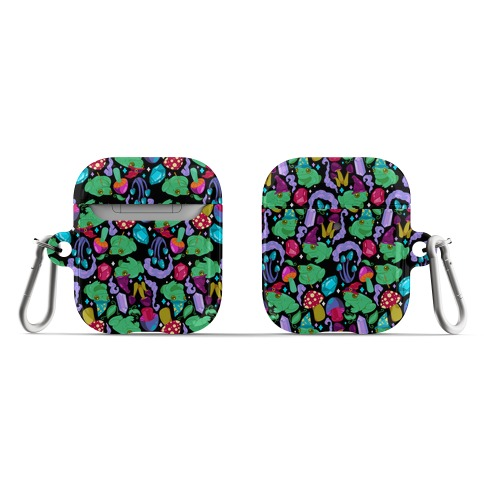 Magical Mushroom Frogs Pattern AirPod Case