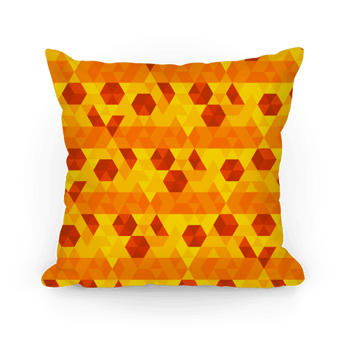 Geometric Pizza Tessellation Pillow