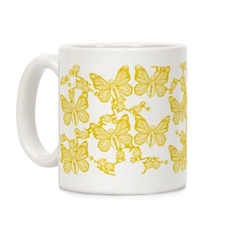 Butterfly Vagina Pattern Coffee Mug