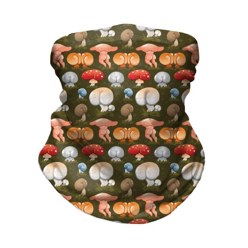 Butt Mushroom Pattern Neck Gaiter