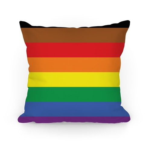 Gay Pride Flag  Pillow