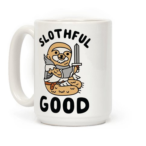 Slothful Good Sloth Paladin Coffee Mug