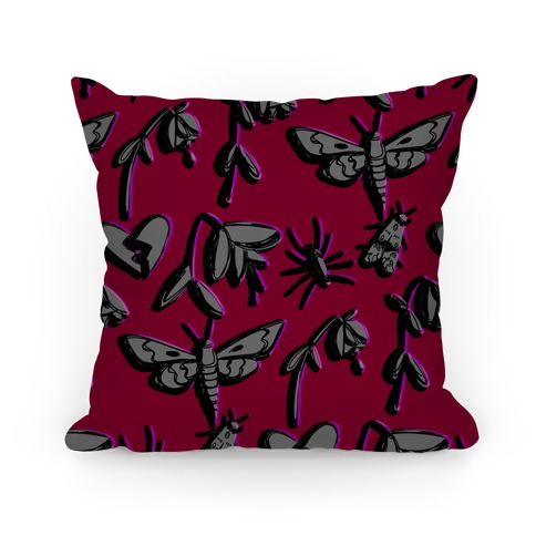 Emo Wilt Pattern Pillow