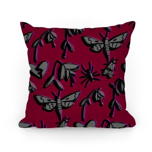 Emo Wilt Pattern Pillow