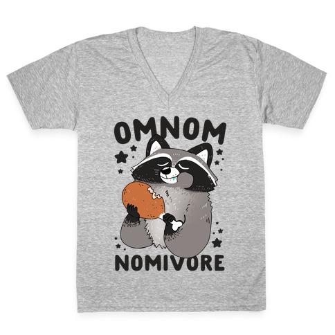 Omnomnomivore V-Neck Tee Shirt