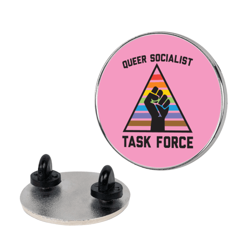 Queer Socialist Task Force Pin