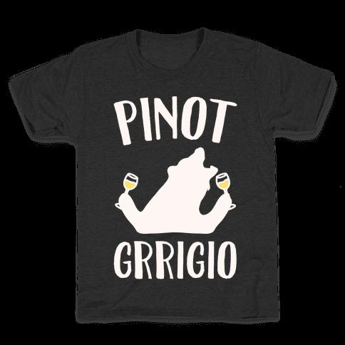 Pinot Grrigio White Print  Kids T-Shirt