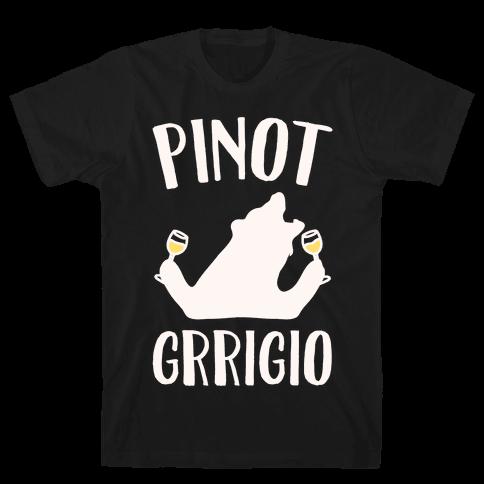 Pinot Grrigio White Print  Mens T-Shirt