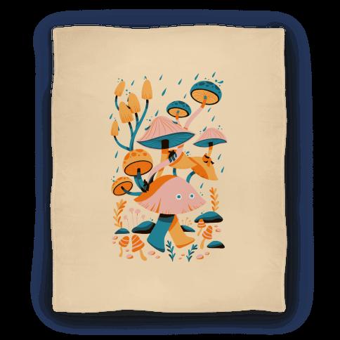 Mushroom Forest Spirits Blanket