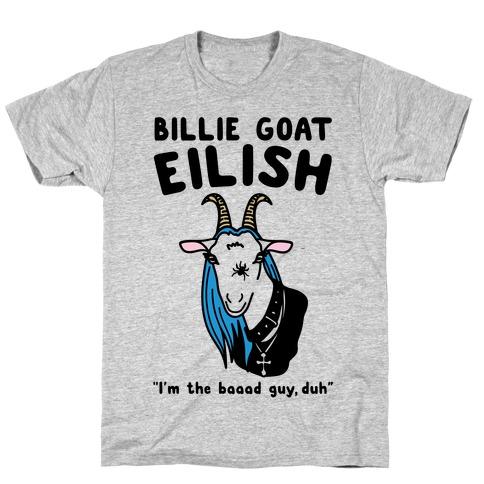 Billie Goat Eilish Parody T-Shirt