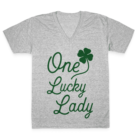 One Lucky Lady V-Neck Tee Shirt