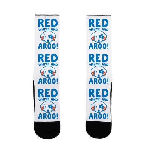 Red White and Aroo Sock