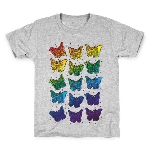 Butterfly Clips LGBTQIA+ Pride Kids T-Shirt