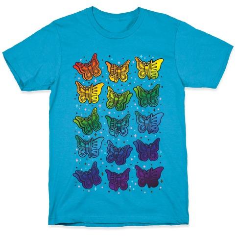 Butterfly Clips LGBTQIA+ Pride T-Shirt