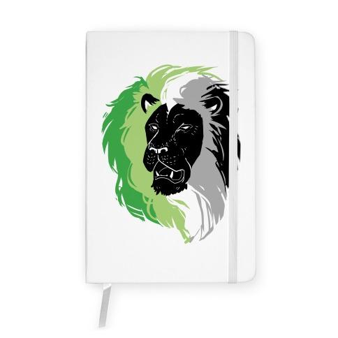 Aromantic Lion Pride Notebook