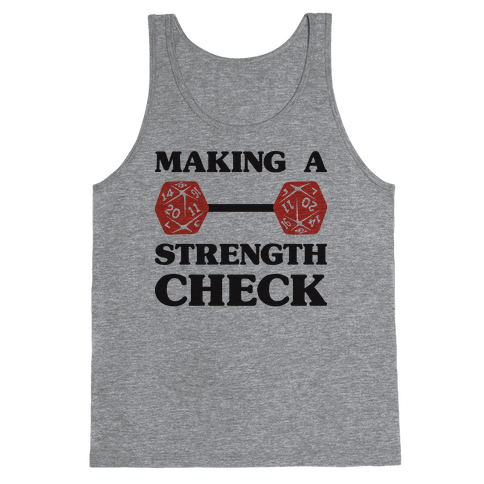 Making A Strength Check Tank Top