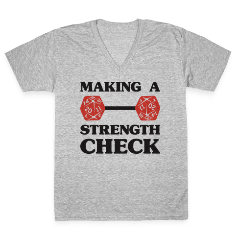 Making A Strength Check V-Neck Tee Shirt