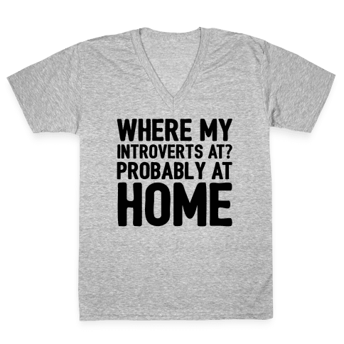 Where My Introverts At V-Neck Tee Shirt
