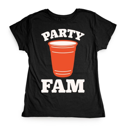 Party Fam White Print Womens T-Shirt